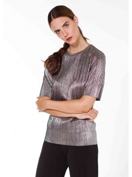 Pleated Silver Shirt