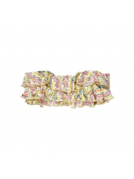 Embroidered Ruffle Bandeau and Embroidered Twiggy Teeny
